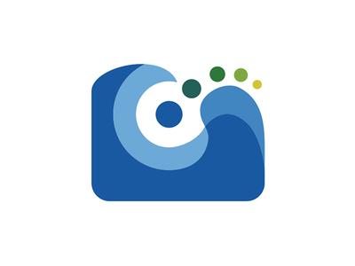 Powerpools Logo jets water jacuzzi hot tub blue icon design branding brand identity logo design logos logo