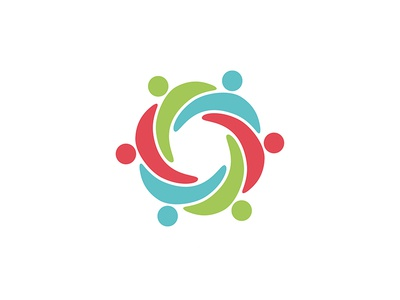 Carmarthenshire Carers Forum Icon charity icon brand identity group blue green red people carers care logo design logo
