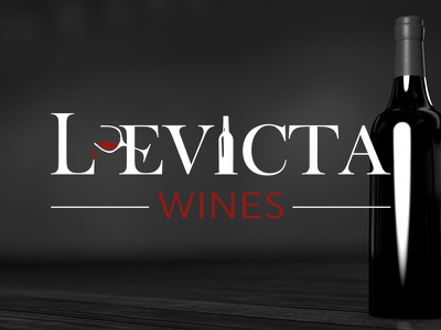 Levicta Wines Logo icon design red wine bottle bottle wine logo design graphic design design branding brand identity