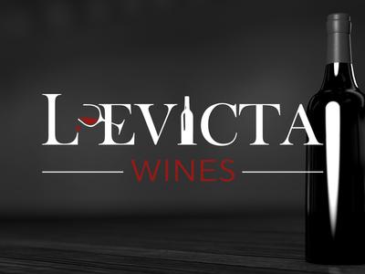 Levicta Wines Logo icon design red wine bottle bottle wine logo design graphic design design branding brand identity