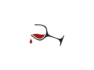 Levicta Wines Icon icon design black red wine bottle bottle wine logo design graphic design design branding brand identity