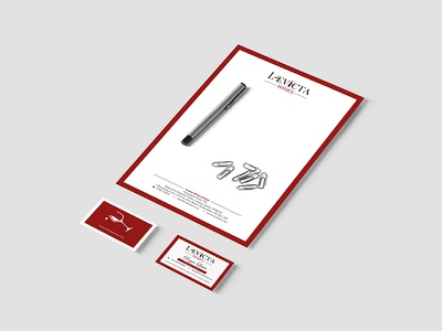 Levicta Wines Stationery design business card letterheads stationery branding brand identity graphic design
