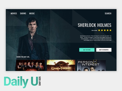 Daily UI Challenge #025 netflix programme movie tv app ui challenge design challenge tv app ux ui daily ui