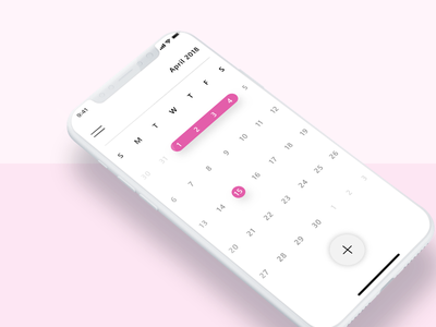 Daily UI Challenge #038 material design pink clean iphone ux ui challenge ui dribbble app calendar