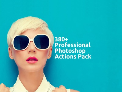 380+ Professional Photoshop Actions Pack
