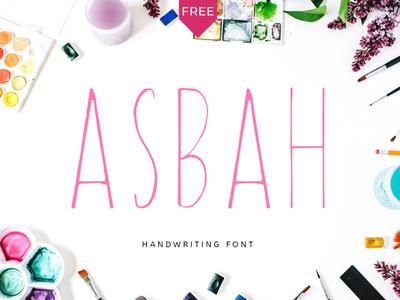 Free Asbah Handmade Font cover font hand drawn website font headlines font elegant font logo font classic font display font clean font branding font font handwritten