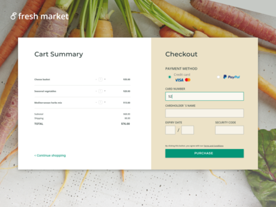 Daily UI #001 - Credit Card Checkout