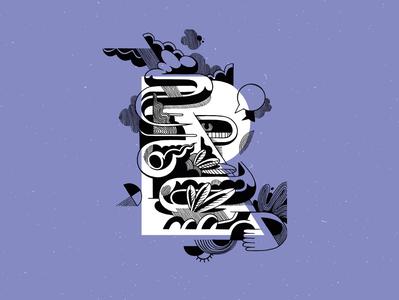 Respire type typeface doodle drawing graphic design typography vector illustrator design brussels belgium illustration