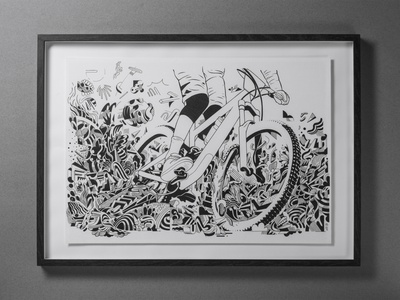 Vojo mag - 3rd volume paper design brussels belgium black and white blackandwhite black  white doodles doodle art doodleart doodling doodle mountain biking mountain bike illustration drawing