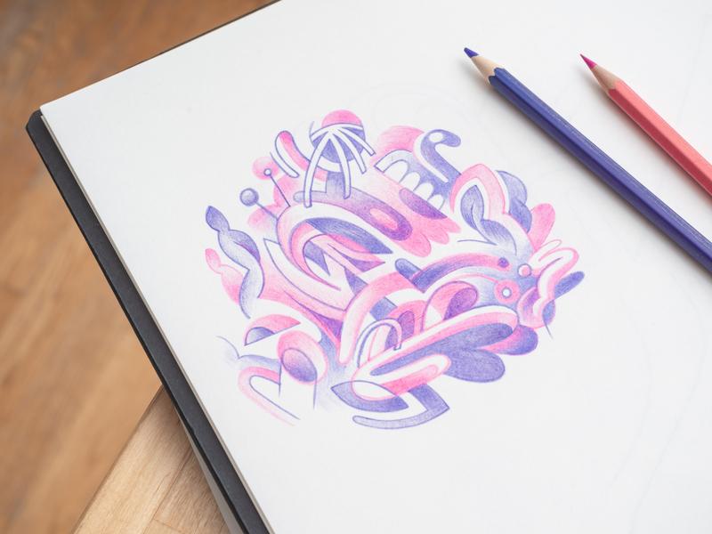 Alive pencil sketch pencil drawing pencil art pencil duotone illustrator brussels design belgium illustration doodle art doodleart doodling doodle drawingart drawing sketchbook sketch