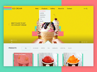 Web Design For ICE CREAM Shop