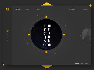Portfolio Showcase UI portfolio design portfolio minimal flat landing page clean techno ui animation animation interaction design web design ui web