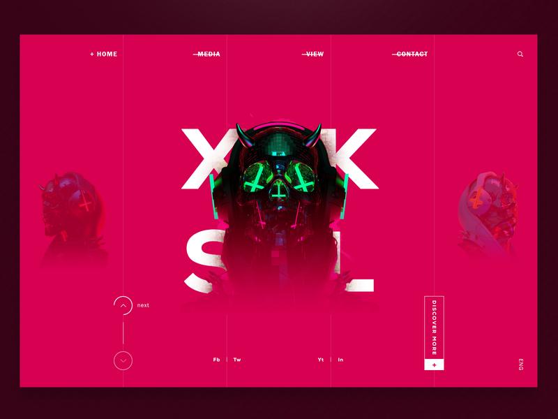 Cyberskull UI web ui web design design interaction skull 3d 3d skull skull ui 3d ui landing page clean simple clean ui minimal ui cyber ui cyberskull cyber punk puprle minimal