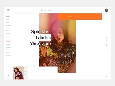 Sparkle Gladys Magazine UI