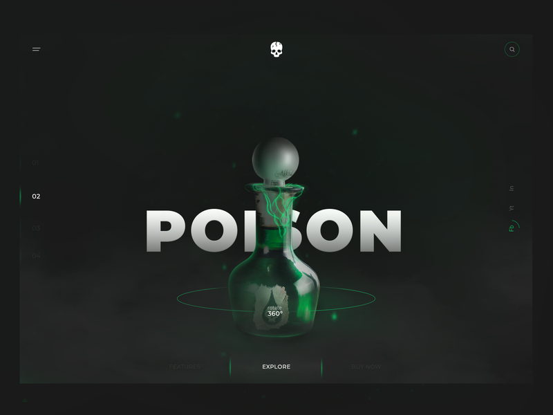 POISON UI poison ui minimalist fog smoke poison design poison manipulate minimal flat landing page clean interaction design web design web ui