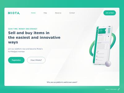 MIOTA. miota clean web design minimal ui clean ui bussiness ui flat landing page clean interaction design web design web ui