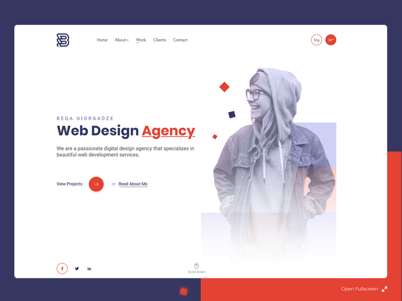 Web Design Agency Landing Page web development company agency landing page agency website clean ui minimal flat landing page clean interaction design web design web ui