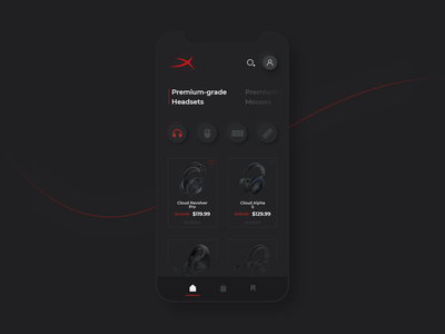 HyperX Online Store App neumorphism skeumorphism skeuo dark app design hyperx headset dark ui clean minimal magazine magazine ui interface design web ui web design