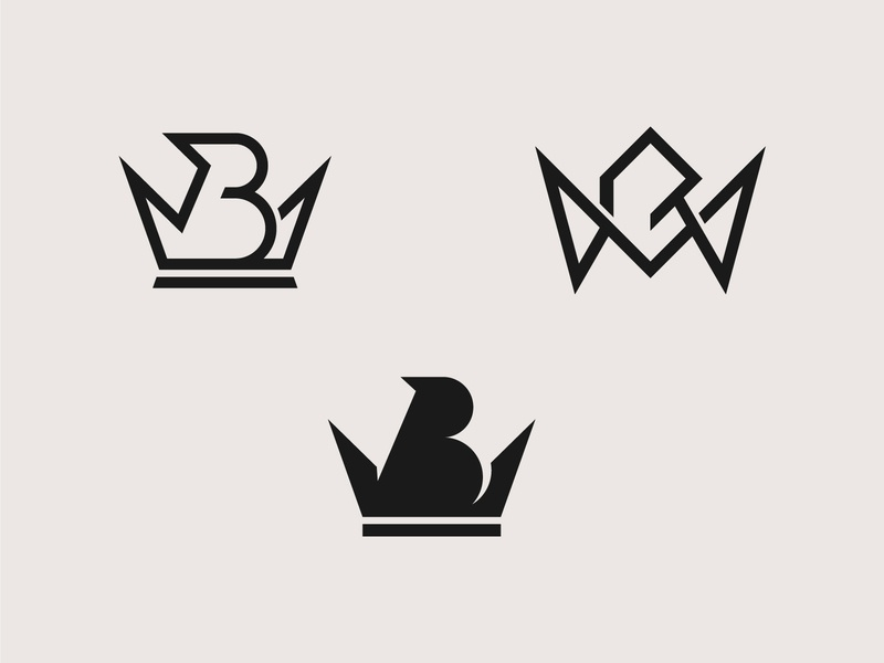 Letter B  With Crown Logo concepts minimalist monogram fashion streetwear luxury crown brand lettermark logotype icon mark modern logodesign symbol brand identity branding logo