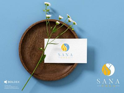 Sana Yoga | Logo Design wordmark elegant logo fashion luxury yoga lettermark logotype illustration design modern logodesign brand identity branding logo