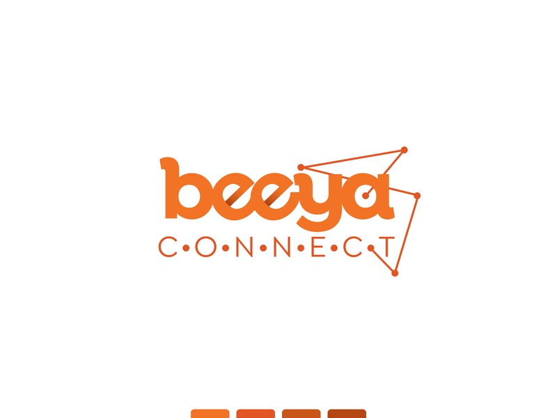 Beeya Connect logo branding marketing graphic design