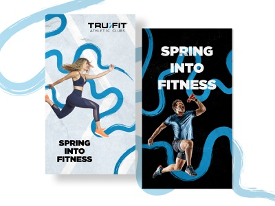 Spring Into Fitness ads design fitness marketing fitness ads ads digital design design digital marketing graphic design