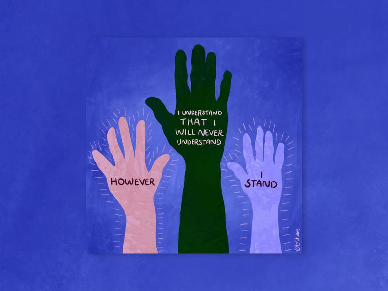 However, I Stand donate procreate graphic design illustrator illustration george floyd blm black lives matter