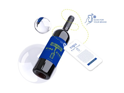 Wine Club NFC Chip Mockup nfc chip nfc chip mockup marketing agency graphic design design marketing digital marketing