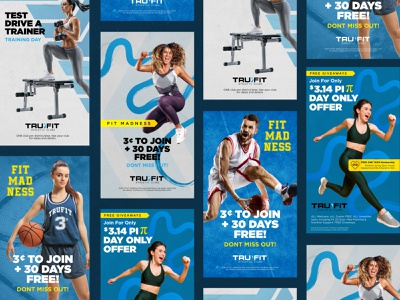 TF March Promos figma athletic trufit athletic club gym fitness ads fitness promotions promotions