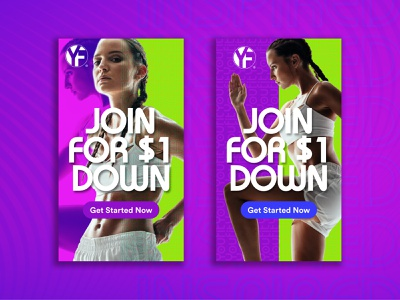 Youfit Ad Concepts gym fitness ads design marketing digital design marketing agency digital marketing