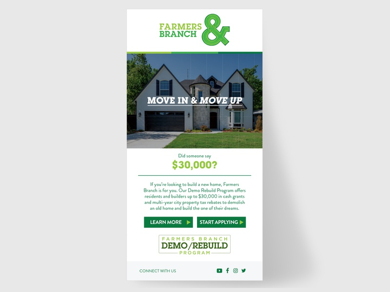 Farmers Branch Email graphic design design marketing digital marketing digital design ux ui email email design