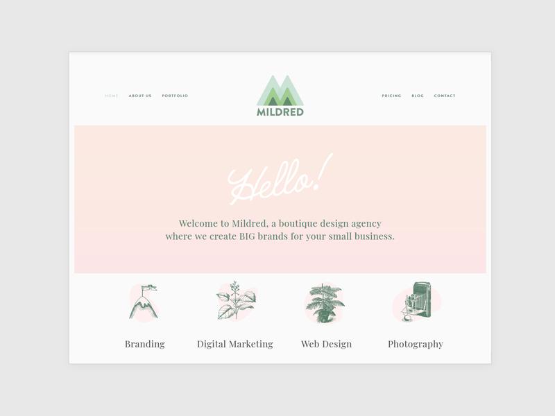 Mildred Design Co. Website ui design graphic design marketing agency marketing digital agency web design