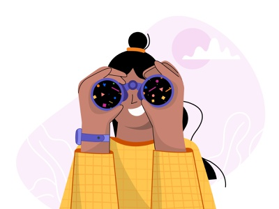 Visibility art illustraion vector illustrator spring vision women shapes cool design best design adobe look patterns cool girl abstract telescope binoculars visibility visible