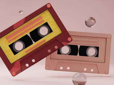 Mixtapes and Memory lanes c4d cinema4d designer vintage retro classic neat colours design blender3dart pixel blendercycles blender3d colour memory blender b3d mixtape 3d art 3d