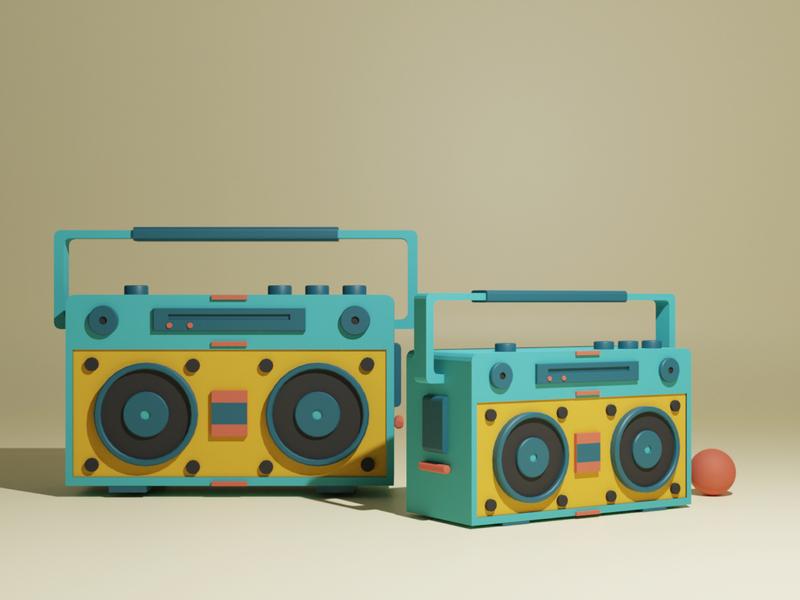 Boom box 3dsmax style designer design artist hippie vintage song music radio boombox blender3dart blendercycles 3d artist c4d cinema4d 3d art 3d blender3d blender