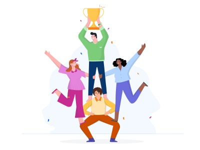 Collaboration workfromhome branding adobe vector colours illustrator ux landingpage office people ui graphicdesign illustration design workplace work collaboration success team teamwork