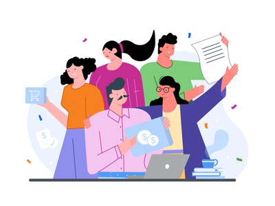 Teamwork customers happy workplace office people sales finance website vector design vectorartwork designer adobe vectorart illustrator illustraion pack procurement teamwork team