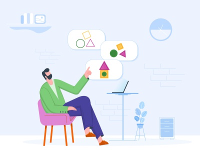 Problem solving illustrator shape shapes kissflow adobe head management flat illustration decide office employee officer solution problem solving house puzzle making decision manager