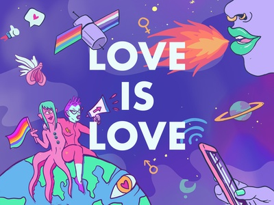 PRIDE surreal alien gaypride pride 2020 pride month gay pride2020 pride illustration