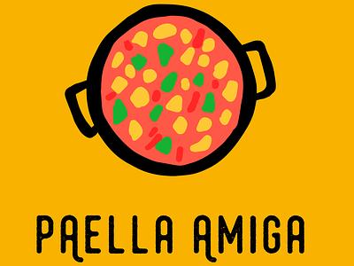 Logo for Paella Takeaway in Bristol logo design food hospitality logotype paella spanish food restaurant logo