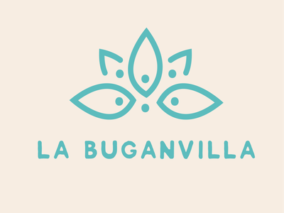 La buganvillla Logo logo design furniture buganvilla flower logodesign logotype crafts handmade macrame