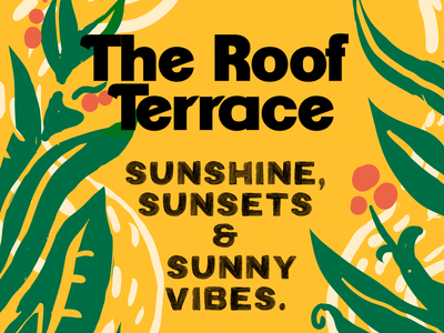 Poster for summer terrace