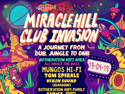 Miracle Hill Club invasion poster