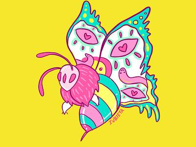 New logo for MartaZubieta.com quirky illustration psychedelic illustration butterfly illustration illustration logo illustration colourful logo animal logos butterfly logo butterfly animal logo