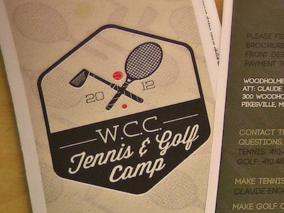 Wcc Golf And Tennis Camp Brochure golf tennis camp background club racket brochure