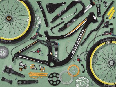 Rocky Mountain Altitude 29 Vector #6 rocky mountain mtb vector illustration mountain bike bike bicycle