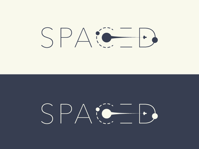 SPACED - Logo Design Idea identity brand universe travel planets space logo challenge spaced