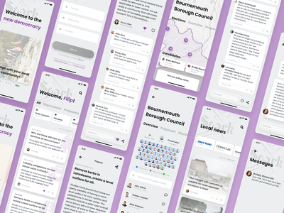 Spark - Engage with local government government democracy design app figma ux ui