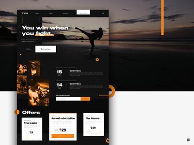 Daily UI #3 - Landing Page design dailyui ux ui offers orange white black ppc home page landing defence defense self