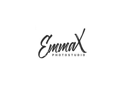 EmmaX Photostudio logo design studio photo emmax stationery logo lettering